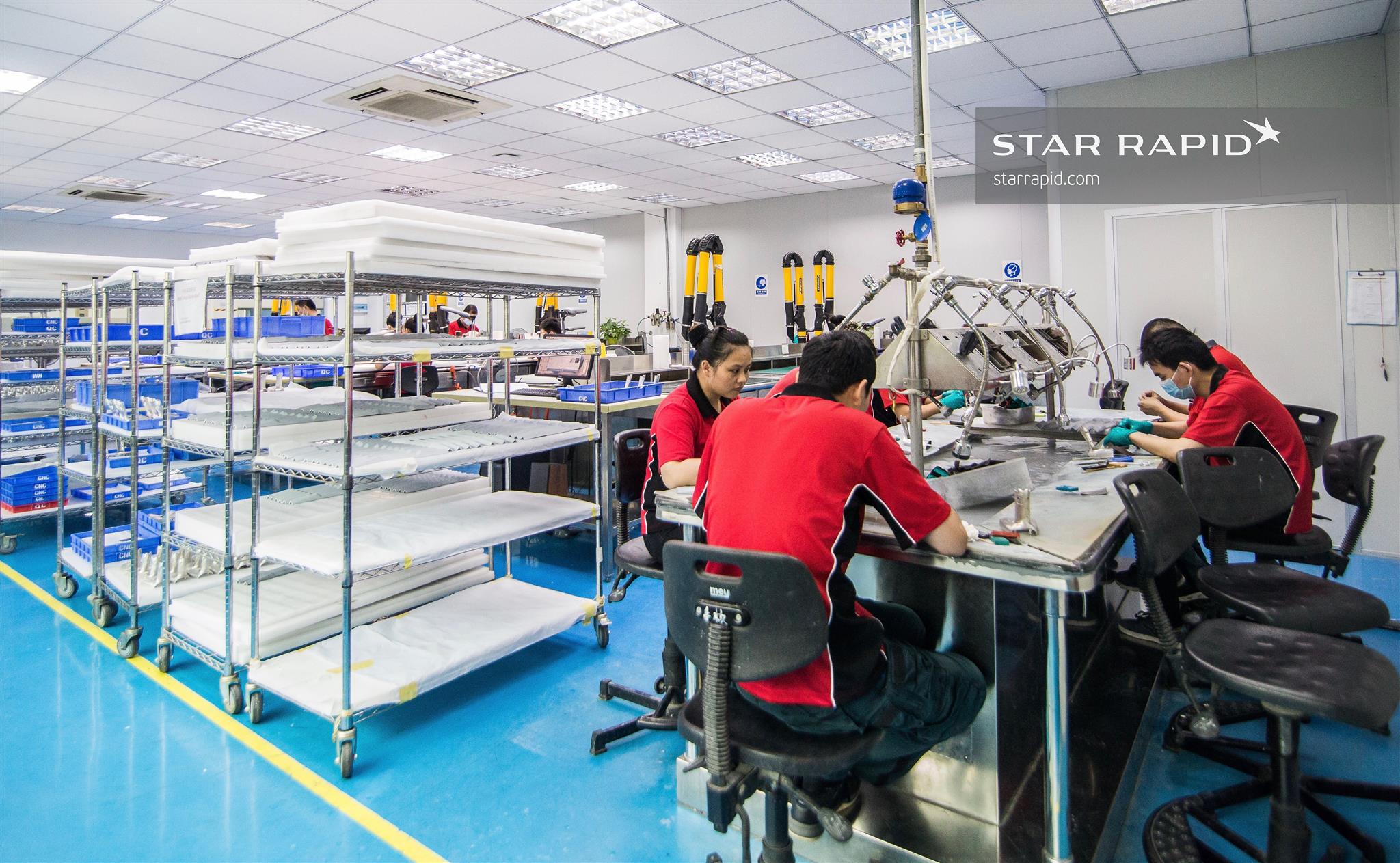 Model finishing shop at Star Rapid
