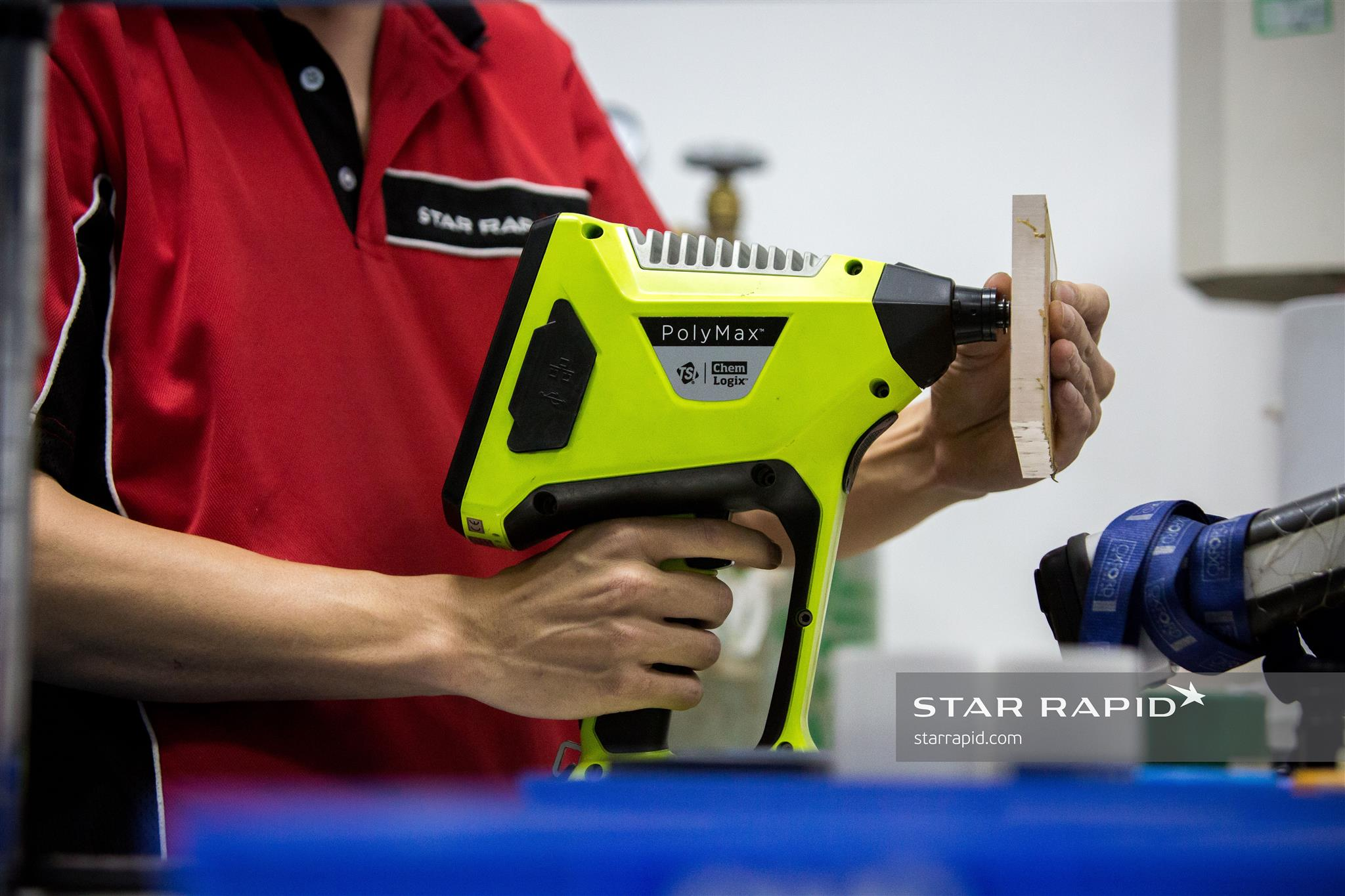 PolyMax plastic analyzer in Star Rapid's QC lab