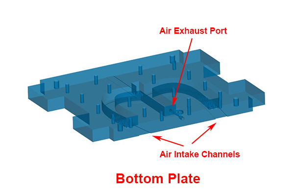 CAD drawing of bottom vacuum holding plate at Star Rapid