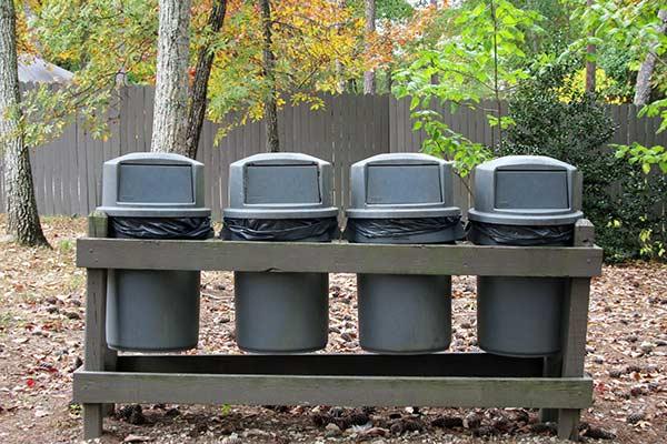 Polyethylene trash cans