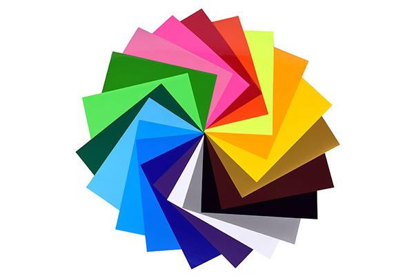Sample of color wheel