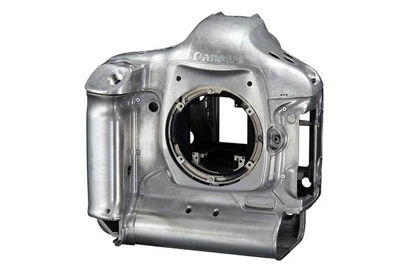 Magnesium die cast camera body from Canon.