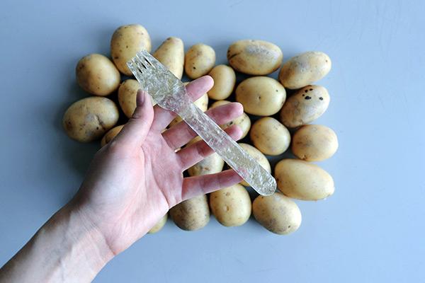 Potato plastic fork image