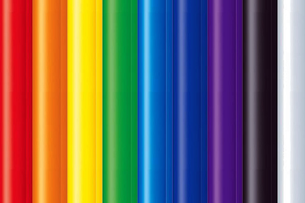 Multi-colored acrylic tubes