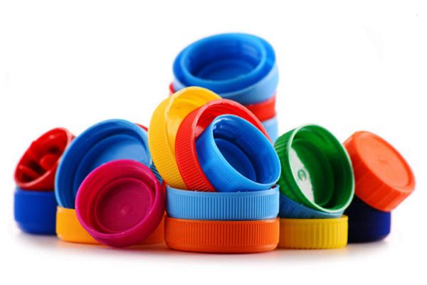 plastic bottle caps, multi-color