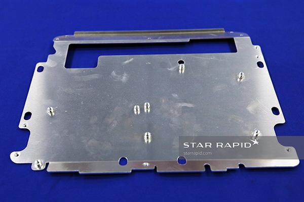 Threaded studs on metal base plate, Star Rapid