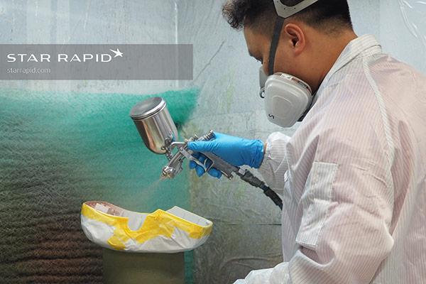 Painting EMC coating at Star Rapid