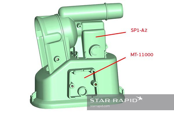 Star Rapid, surface finish CAD image, nedap case study