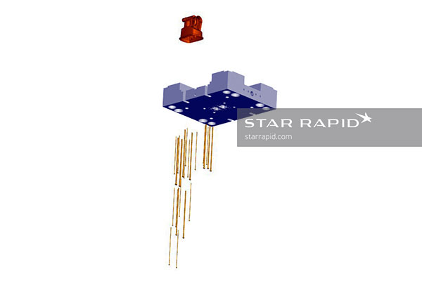 CAD image of nedap ejector pin layout