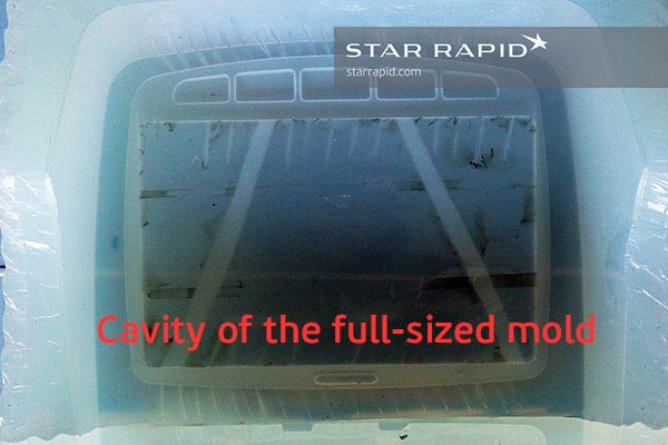 Mold cavity for overmolding at Star Rapid