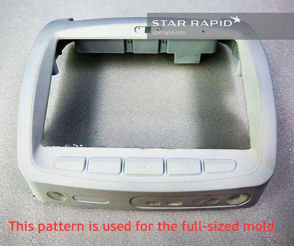 Full sized overmolding master pattern at Star Rapid