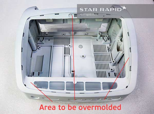 Partial pattern to be overmolded at Star Rapid