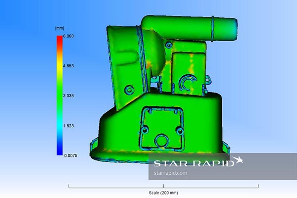 Moldflow wall thickness analysis, star rapid case study, nedap