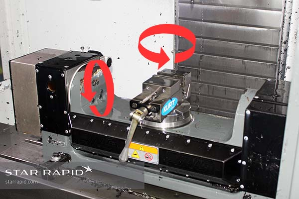 Haas rotary table mounted in VF-2SS mill