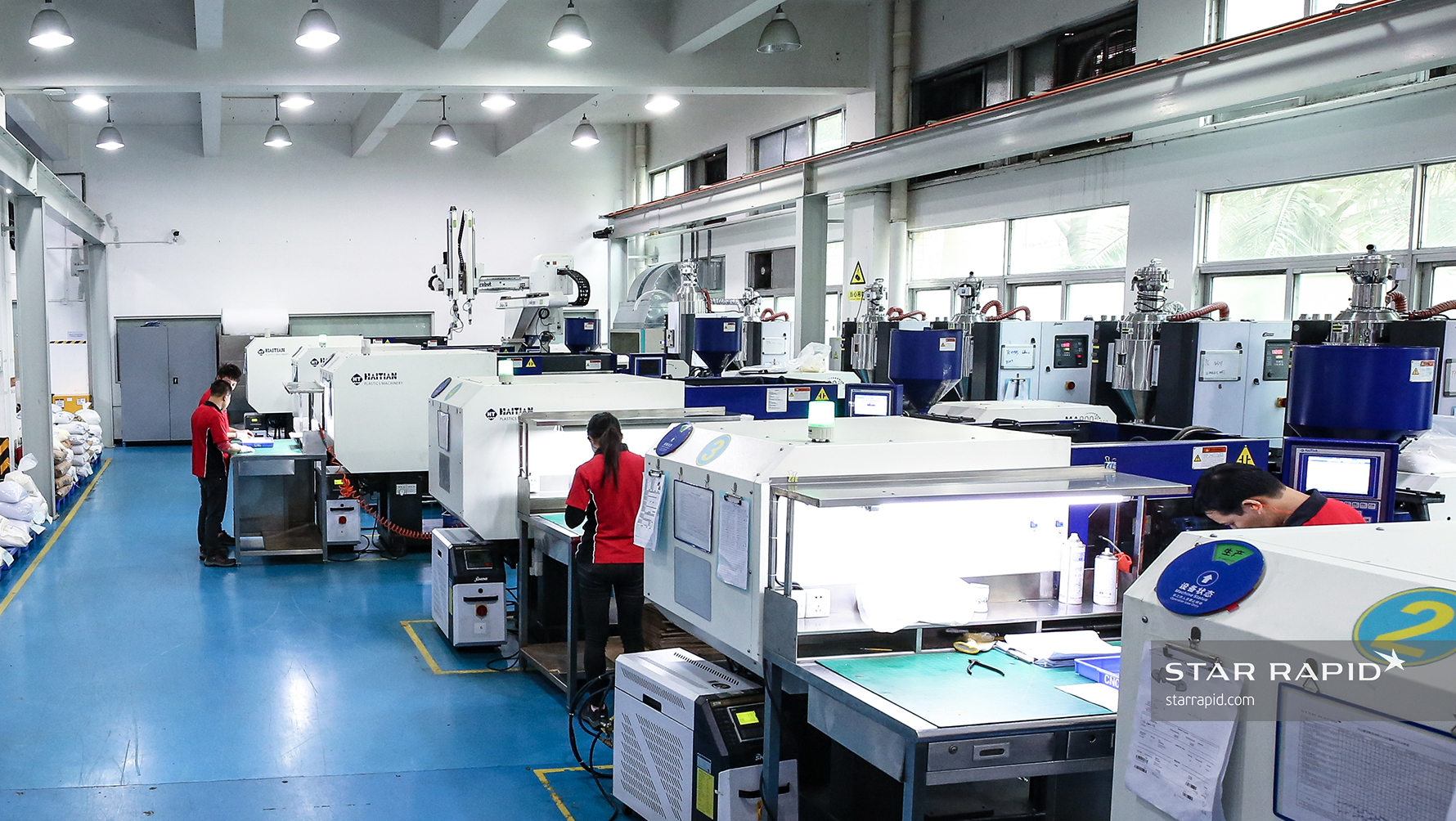 Star Rapid Employees and Manufacturing Equipment at Facility in Zhongshan