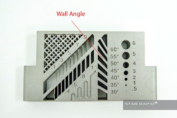 Detail of 3D printed wall angle