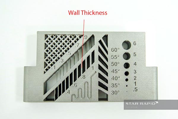 Detail of 3D printed wall thickness