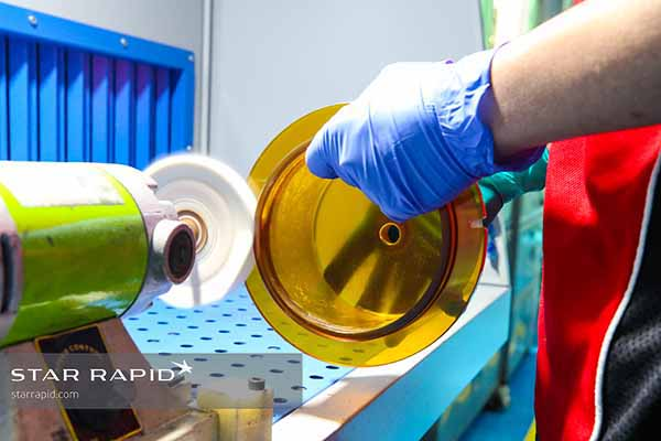 Buffing plastic at Star Rapid
