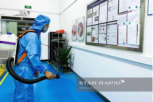 Sanitizing at Star Rapid