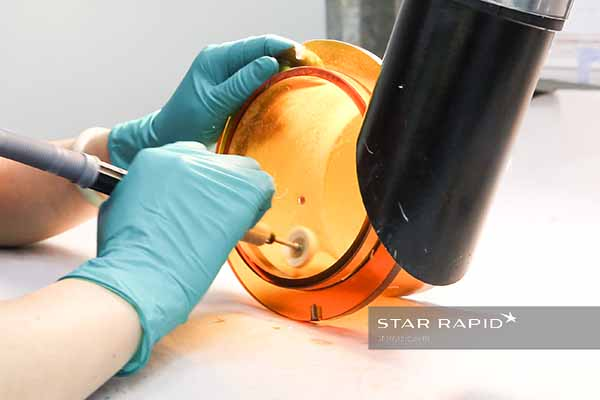 Polishing inside a part for Biorep