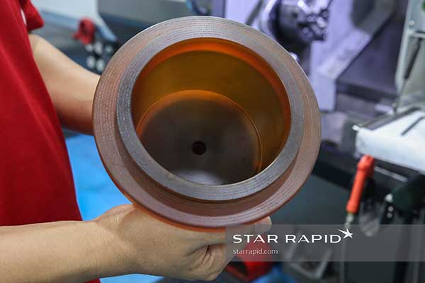 Rough machining a plastic cylinder for Biorep Technologies