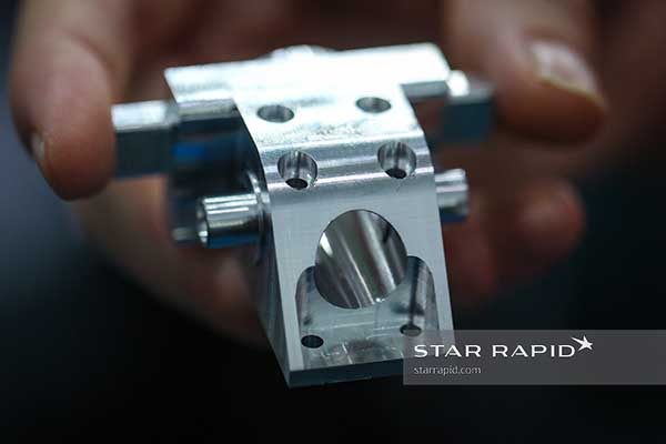 Freshly milled part at Star Rapid