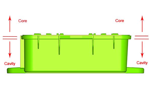 FieldKit core/cavity separation detail